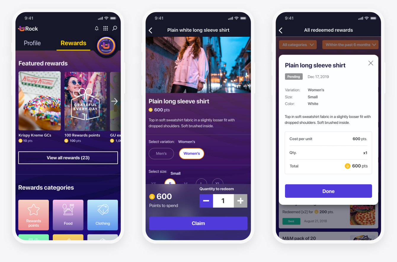 Screens for uRock rewards